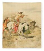 Attack On The Muleteers Fleece Blanket