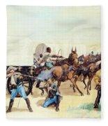 Attack On The Supply Train 1885 Fleece Blanket