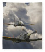 Attack Out Of The Sun Fleece Blanket