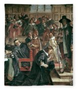 Attempted Arrest Of 5 Members Of The House Of Commons By Charles I Fleece Blanket
