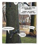 Attention Oak Tree Shoppers Fleece Blanket