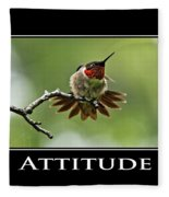 Attitude Inspirational Motivational Poster Art Fleece Blanket