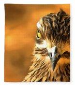 Attitude...with Feathers Fleece Blanket