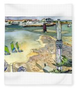 Au Bord De La Mer, La Rochelle, Charente-maritimes Fleece Blanket