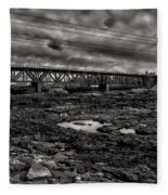Auburn Lewiston Railway Bridge Fleece Blanket