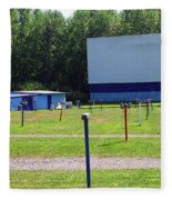 Auburn Ny - Drive-in Theater 3 Fleece Blanket