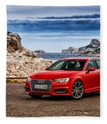 Audi A4 Fleece Blanket