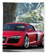 Audi R8 Fleece Blanket