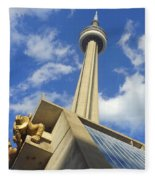 Audience Sculpture And The Cn Tower Fleece Blanket