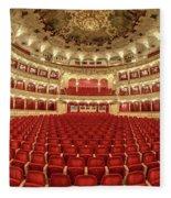 Auditorium Of The Great Theatre - Opera Fleece Blanket