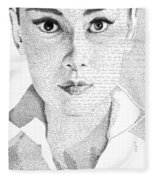 Audrey Hepburn In Her Own Words Fleece Blanket