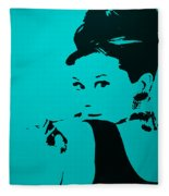 Audrey Light Blue Fleece Blanket