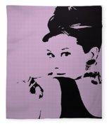 Audrey Pink Fleece Blanket