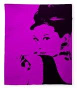 Audrey Purple Fleece Blanket