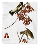 Audubon: Bobolink Fleece Blanket