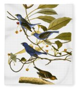 Audubon: Bunting, 1827-38 Fleece Blanket