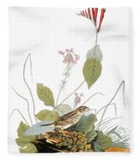 Audubon: Bunting Fleece Blanket