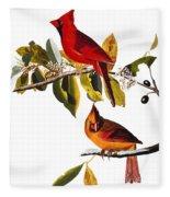 Audubon: Cardinal Fleece Blanket