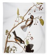 Audubon: Chickadee, (1827-1838) Fleece Blanket