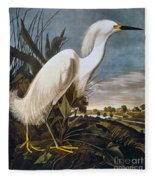 Audubon: Egret Fleece Blanket