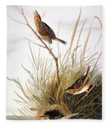 Audubon: Finch Fleece Blanket