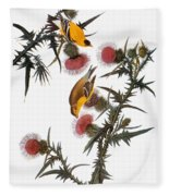 Goldfinch Fleece Blanket