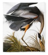 Audubon Heron Fleece Blanket