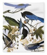 Audubon: Jay And Magpie Fleece Blanket