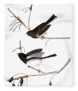 Audubon: Junco, (1827) Fleece Blanket
