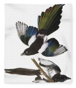 Audubon: Magpie Fleece Blanket