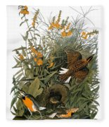 Audubon: Meadowlark Fleece Blanket