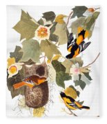Audubon: Oriole Fleece Blanket