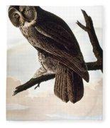 Audubon Owl Fleece Blanket