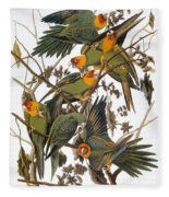 Audubon: Parakeet Fleece Blanket