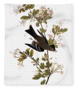 Audubon: Pewee, 1827-38 Fleece Blanket