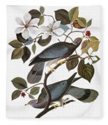 Audubon: Pigeon Fleece Blanket