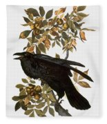 Audubon: Raven Fleece Blanket