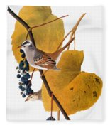 Audubon: Sparrow Fleece Blanket