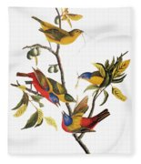 Audubon: Sparrows Fleece Blanket