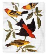 Audubon: Tanager, 1827 Fleece Blanket