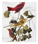 Audubon: Tanager Fleece Blanket