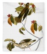 Audubon: Thrush Fleece Blanket