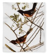 Audubon: Towhee Fleece Blanket