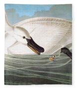 Audubon: Trumpeter Swan Fleece Blanket