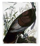 Audubon: Turkey Fleece Blanket