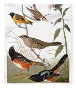 Audubon: Various Birds Fleece Blanket