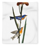 Audubon: Warbler, 1827 Fleece Blanket