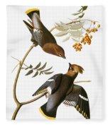 Audubon: Waxwing Fleece Blanket
