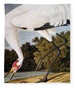 Audubon: Whooping Crane Fleece Blanket