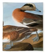 Audubon: Wigeon, 1827-38 Fleece Blanket